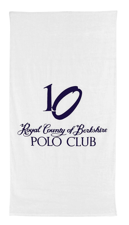 Polo Club - Toalla de playa (, 100% algodón, Weiß, ca. 90 x 180 cm ...