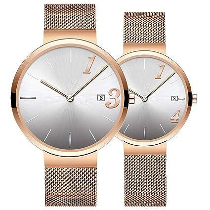 BJ-watch Reloj Casual de Pareja Reloj de diseño Simple para Hombres Reloj de Mujer
