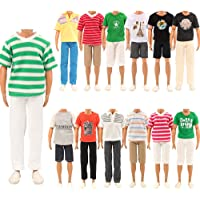 Barwa Random Style 3 Sets Fashion Casual Sporty Summer Set Outfit for Doll