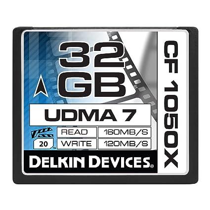 Delkin 32GB CF 1050X UDMA 7 Memoria Flash CompactFlash ...