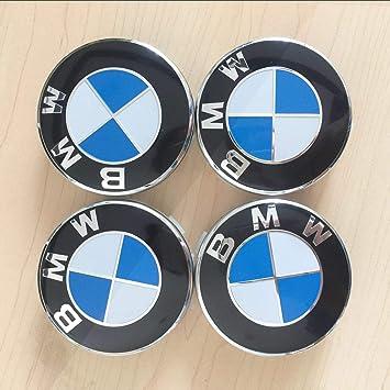 HUAYING Juego de 4 tapacubos para Llantas de BMW con Emblema de Emblema: Amazon.es: Coche y moto