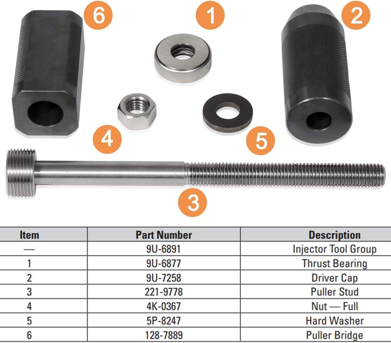 9S9082 Engine Barring Socket Alt Set of 3 For Caterpillar 3406E C-16 Camoo CAT 9U-6891 Injector Sleeve Remover Installer Set C-15 9U-7227 Injector Height Adjustment Gauge Tool