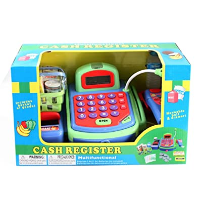 Just Like Home Cash Register - Green: Toys & Games
