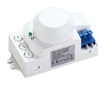 ZEYUN Sensor detector de movimiento de sensor de movimiento de microondas ZEYUN, control de luz fácil, rango de detección 20M: Amazon.es: Bricolaje y ...