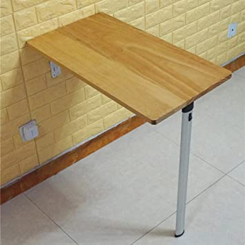 Couleur Naturelle Solide Bois Wall-Mounted Drop-Feuille Table ...