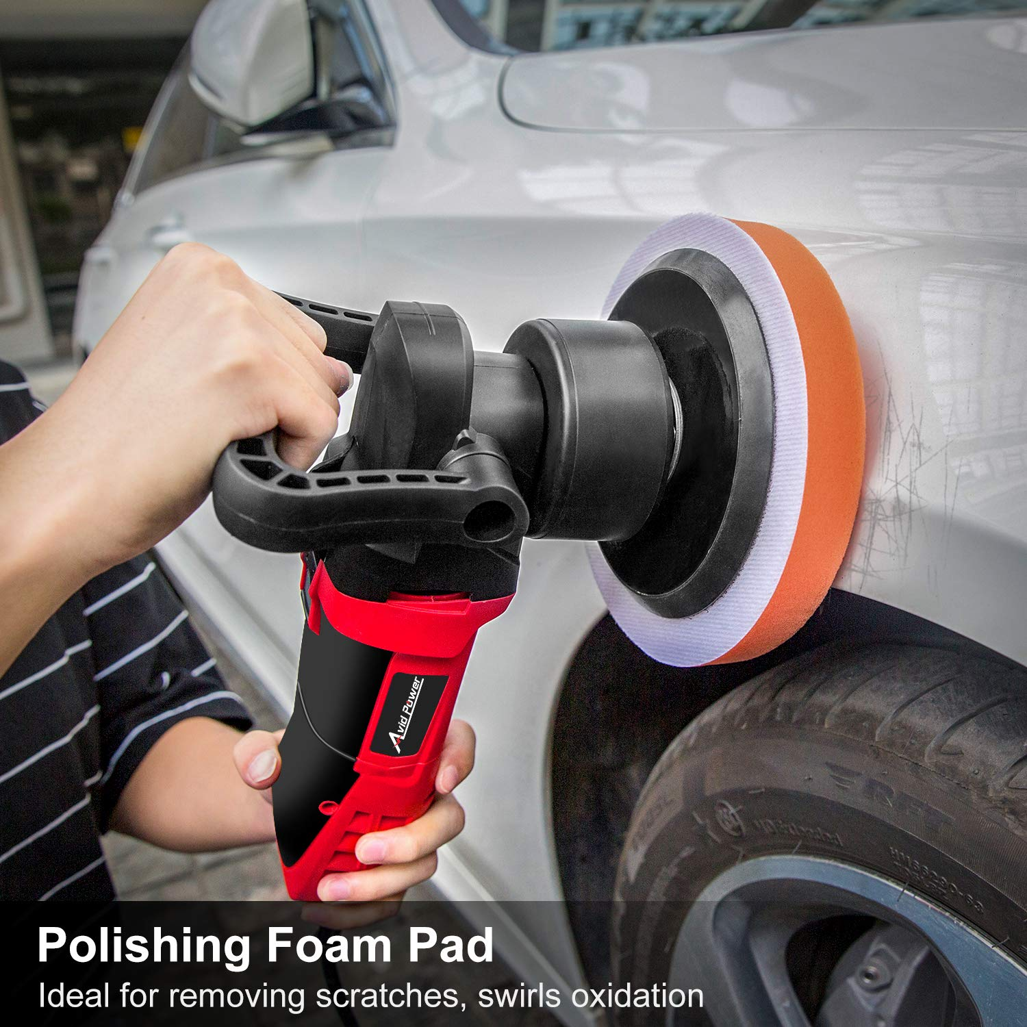 Avid Power Polisher, 6'' Random Orbital Waxer/Buffer Kit with Dual-Action, Variable Speed, 3 Foam Pads for Car Waxing, Buffing and Polishing, MEP127 by Avid Power (Image #6)