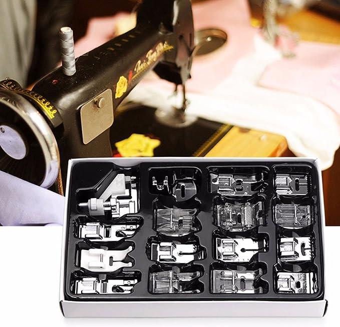 Kit Profesional 16pz prensatelas pie pies universales máquina ...