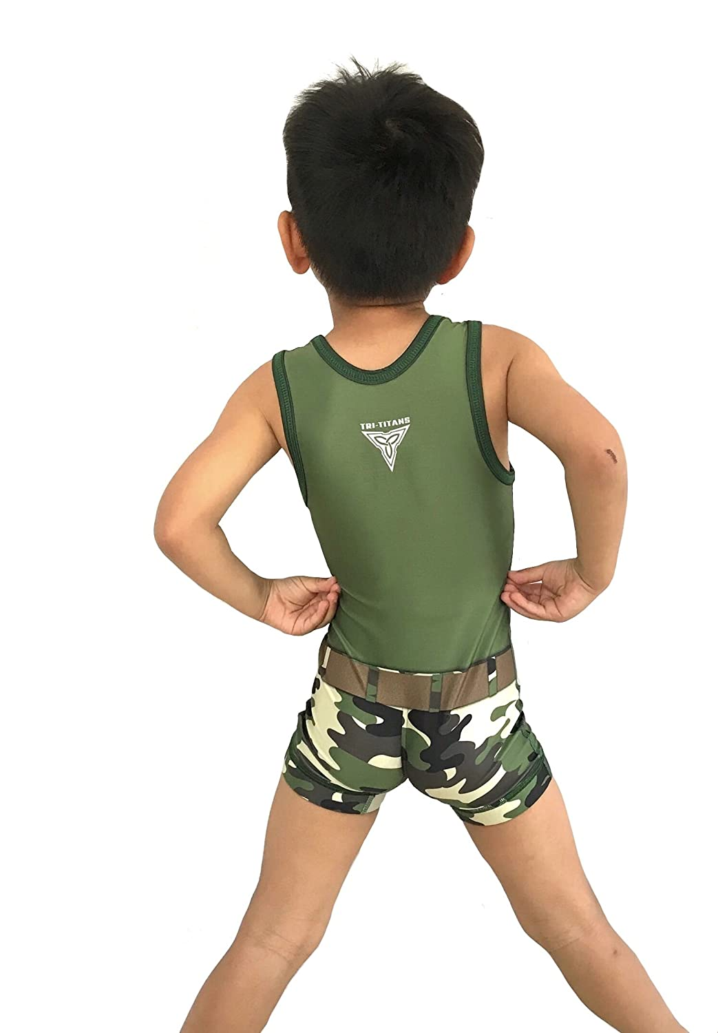 TRI-TITANS Guile Street Fighter Wrestling Singlet Folkstyle Youths and Adult Mens Sizes