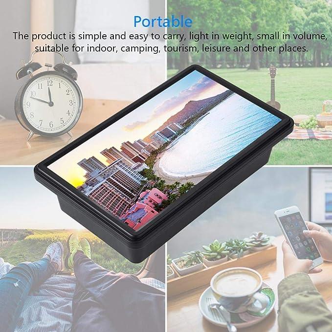 Eboxer 12 Pulgadas Amplificador Universal de Pantalla del Teléfono Móvil, Amplificador Retractable de Pantalla de Definición para Teléfono Móvil Interior, ...