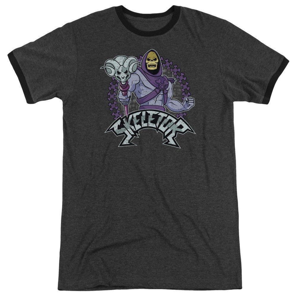 Masters Of The Universe-Skeletor Adult Ringer T-Shirt