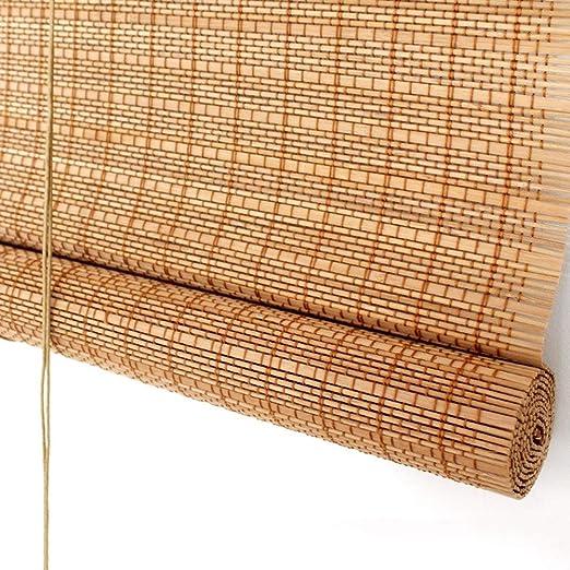 Persiana de bambú Persianas Enrollables Exteriores con Accesorios ...
