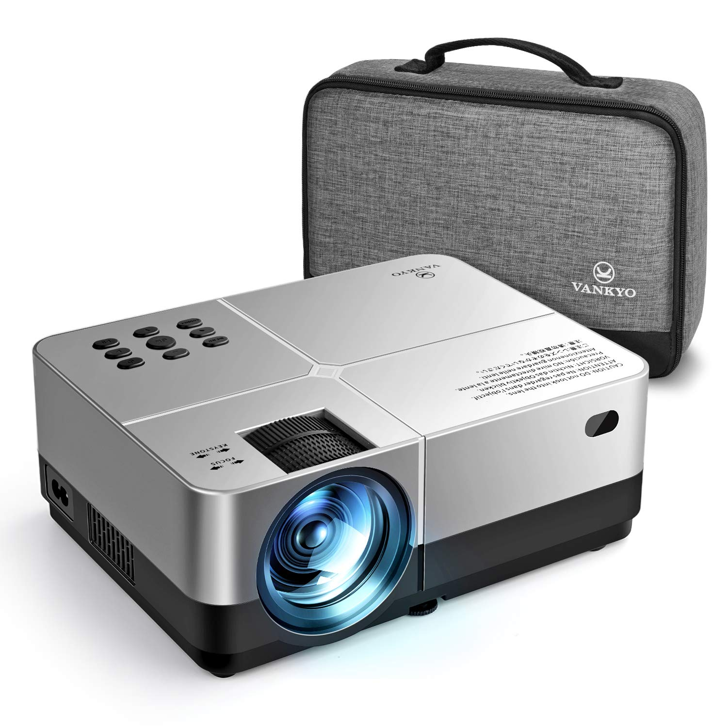 VANKYO Leisure 420 Mini Projector, 3500 Lux Portable Home Movie Cinema, 1080P Supported, 200'' Projection Size, Compatible w/ PS4, Xbox, HDMI for Gaming, Sports