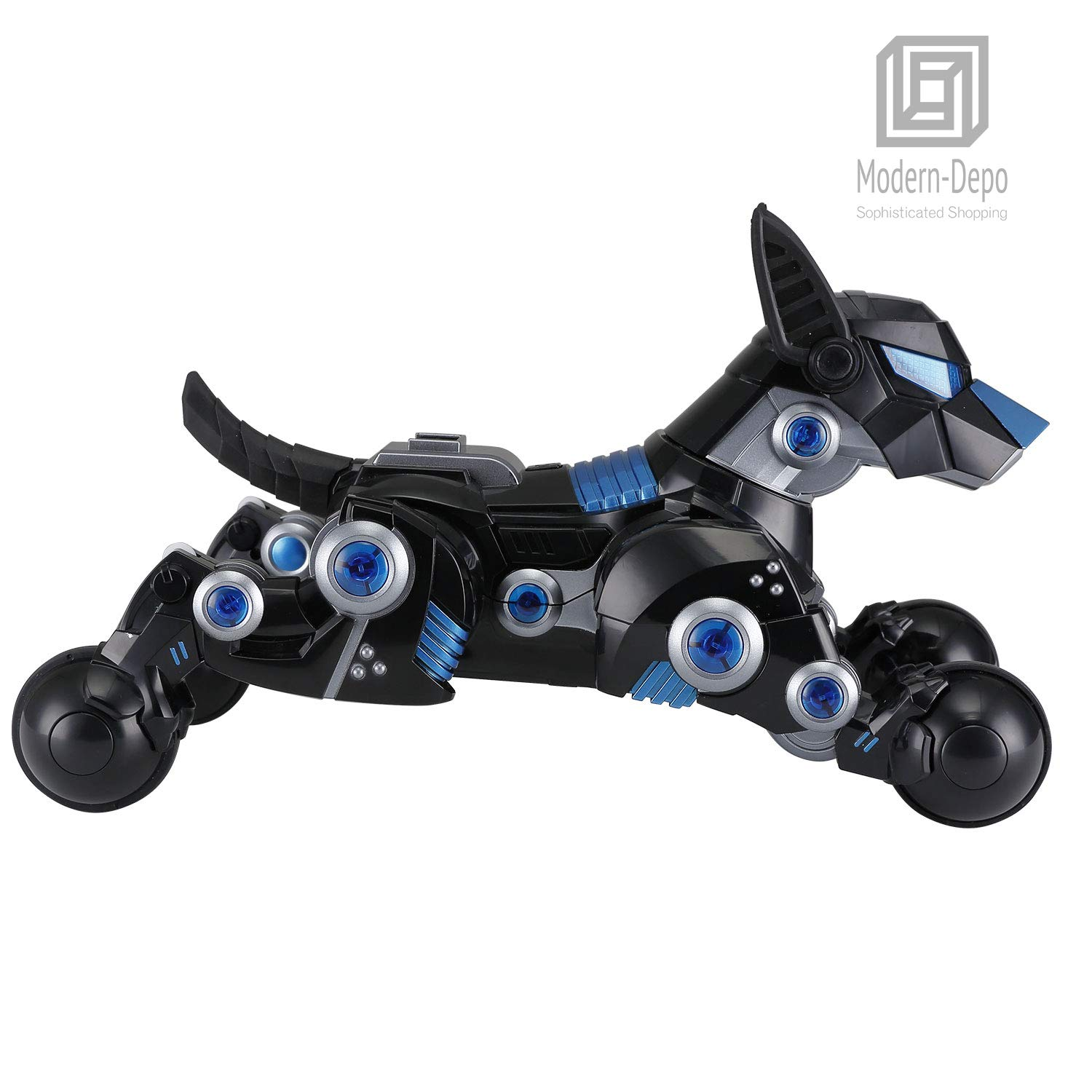 Modern-Depo Rastar Intelligent Robot Dog with Remote Control for Kids, USB Charging, Dancing Demo - Black by Modern-Depo (Image #4)