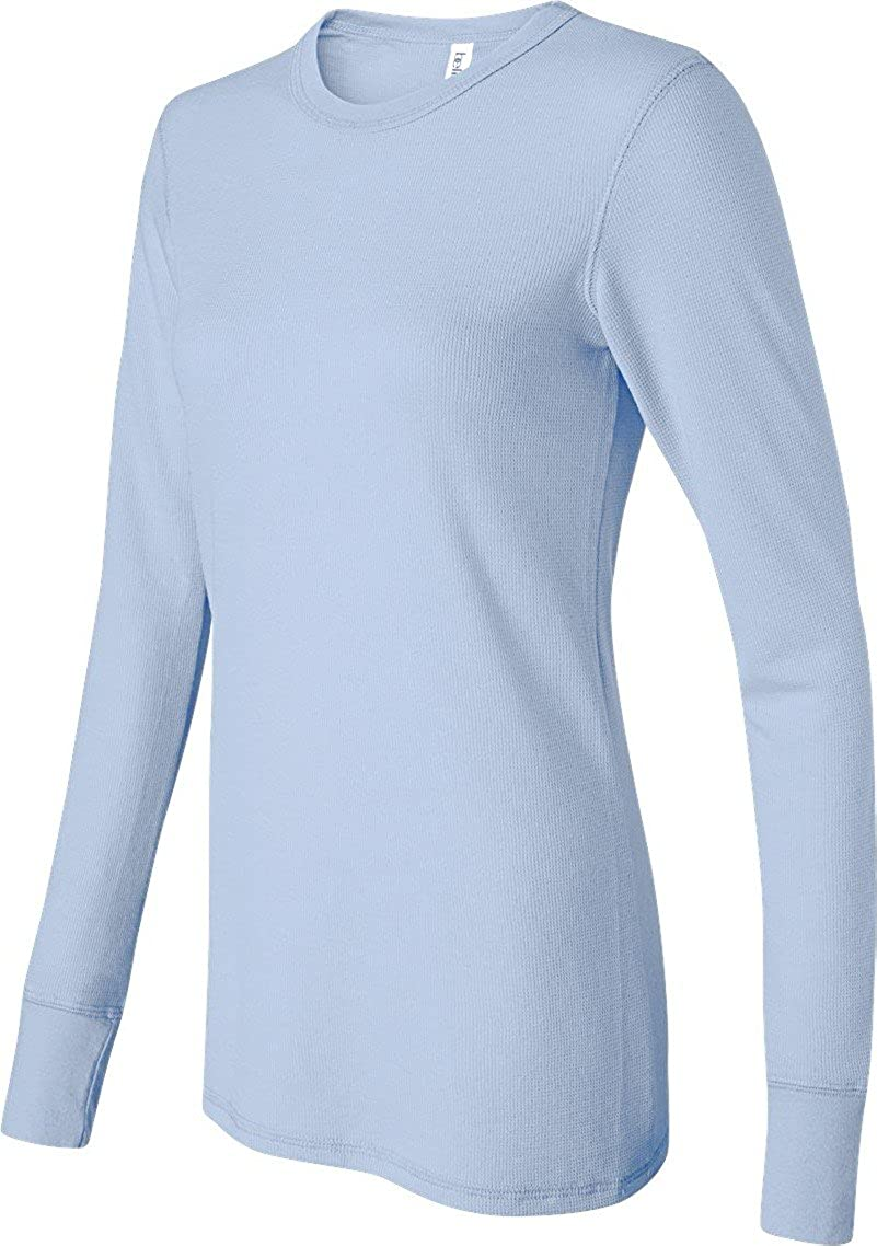 Bella+Canvas Women's Waffle Thermal Knit Long-Sleeve T-Shirt_XX-Large_Baby Blue 8500