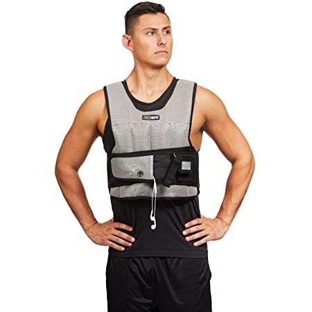 ZFOsports Short Adjustable Weighted Vest with Phone Pocket Water Bottle Holder