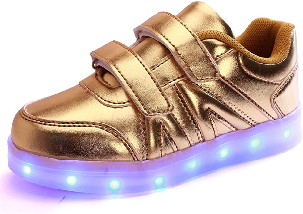 pit4tk USB Charging LED Light Up Shoes Flashing Sneaker for Kids Boys Girls
