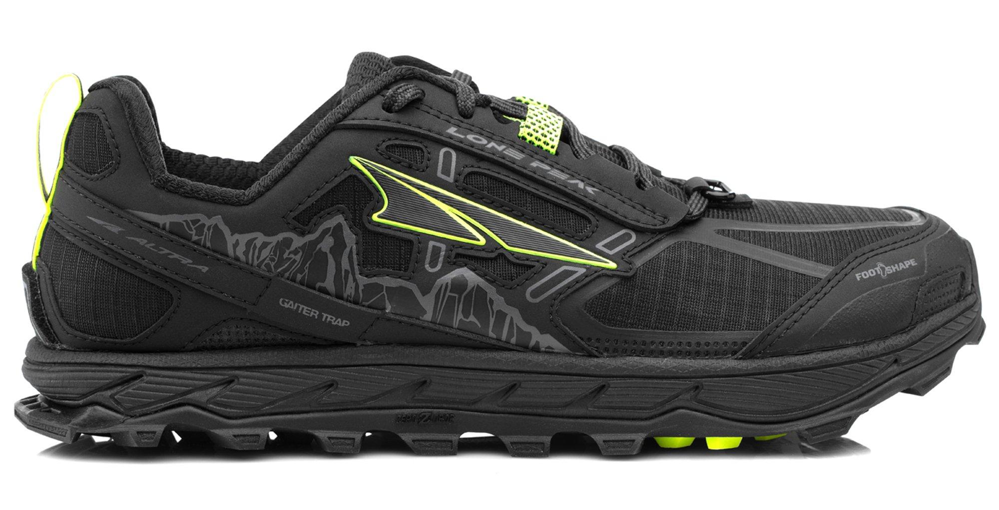 Altra AFW1855F Women's Lone Peak 4.0 Trail Running Shoe, Black - 9 B(M) US by Altra