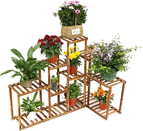 Amazon Com Corner Wooden Plant Stand Holder Assorted Display