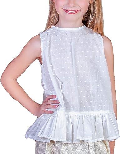 Blusas para Niñas Sin Mangas 100% Algodón  Tallas Entre 12 Meses y 10 Años   Camisa de Niña para Verano   Hecha en España: Amazon.es: Ropa y accesorios