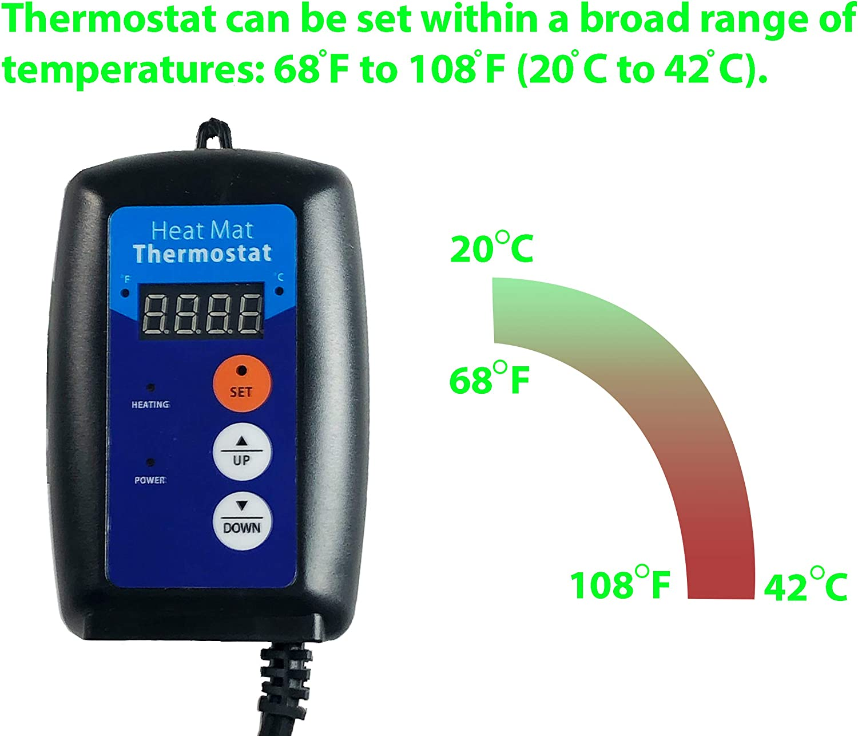 Viagrow Digital Heat Mat Thermostat