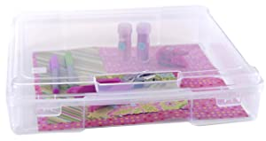 """IRIS 12"""" x 12"""" Portable Project Case, 6 Pack, Clear"""