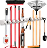 2 Pack Imillet Mop and Broom Holder, Wall Mounted Organizer-Mop and