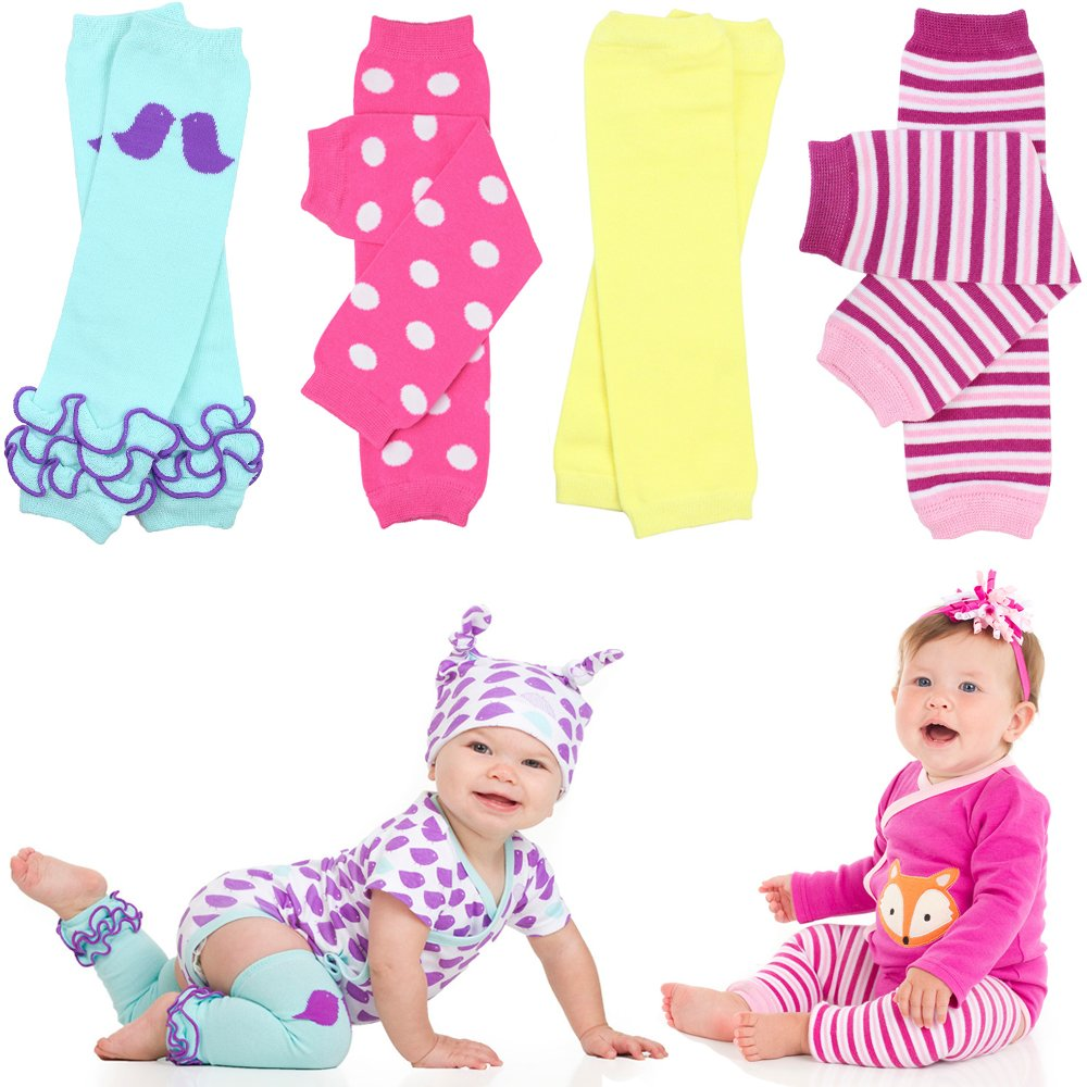 juDanzy 4-pack baby & toddler leg warmers gift set for boys & girls