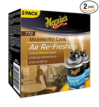 Meguiar's M77200 Pleasant Fiji Sunset 2 5 oz Marine/RV Air Re-Freshers, 2  Pack