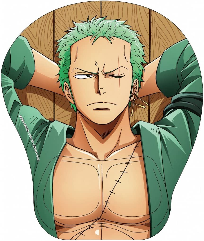 One Piece 【MUGIWARA Store Limited】 Roronoa Zoro PC 3D Mouse pad