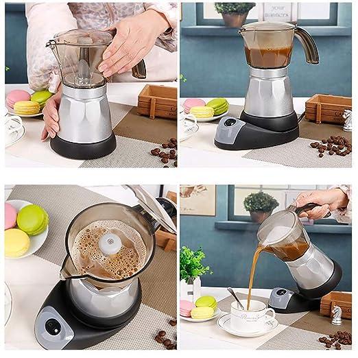 Yu2d Cafetera eléctrica Moka Pot Café Espresso Percolador ...