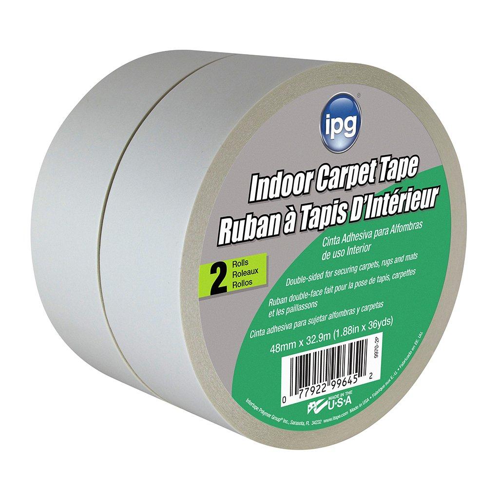 Intertape Polymer Group Intertape 9970-2P Indoor Carpet Tape, 1.88-Inch x 36-Yard, 2-Pack