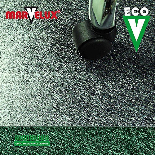 Marvelux 48'' x 60'' ECO (Enhanced Polymer) Rectangular Chair Mat for Low and Standard Pile Carpets | Transparent Carpet Protector | Multiple Sizes by Marvelux (Image #2)
