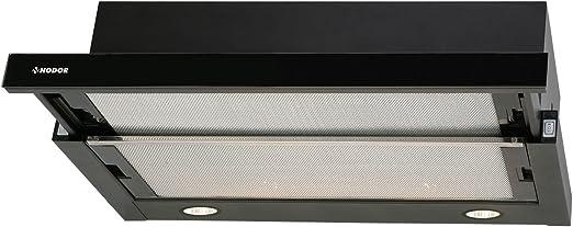 Nodor Extender Encastrada Negro 340m³/h - Campana (340 m³/h, Canalizado, 58 dB, 64 dB, Encastrada, Negro): Amazon.es: Hogar