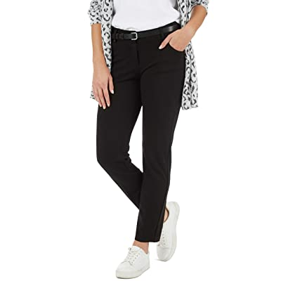 89th + Madison Five Pocket Ponte Knit Jean Style Black at Women's Jeans store