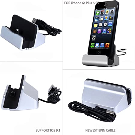 Amazon.com: iPhone Audio Cargador Dock, yeworth [aleación de ...