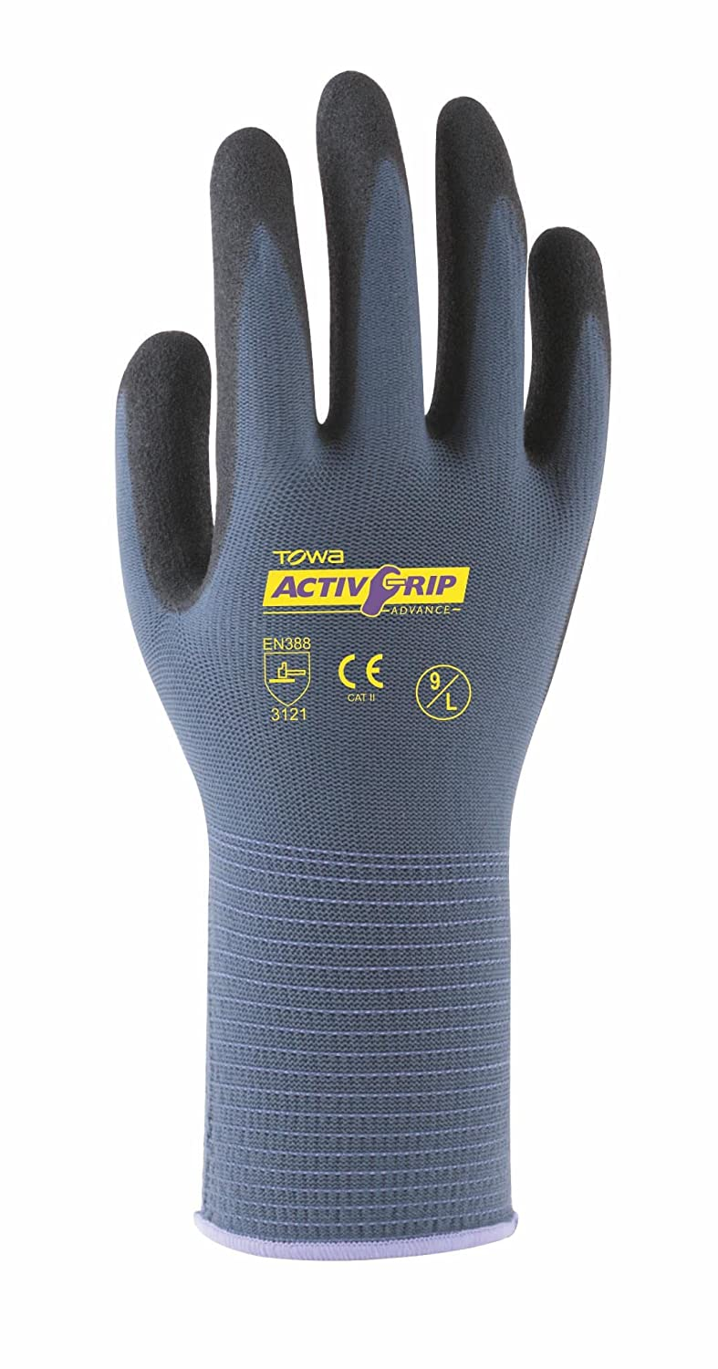 Towa Activ Grip Advance Guante, XS, 1 Blackrock TOW58106