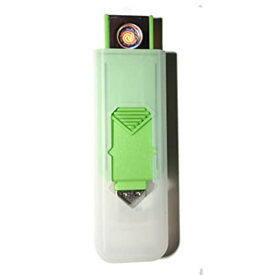 USB Smart Lighter de Champ High Power Long Life Rechargeable Cell Pas de flamme sans gaz Refilable Haute qualité Smart USB Igniter Diverses couleurs Brand New GREEN
