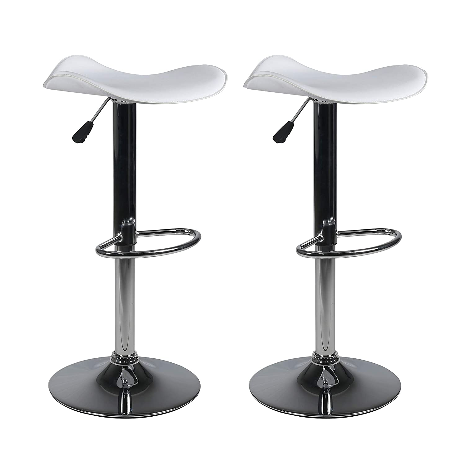 "Milliard Bar Stools | Set of 2 | Height Adjustable 21.5"" - 30"" 
