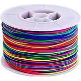 100 m Filo Elastico Fili per Perline Tessuto Perline Thread Bead String Craft Cord, 1 mm, Multicolore