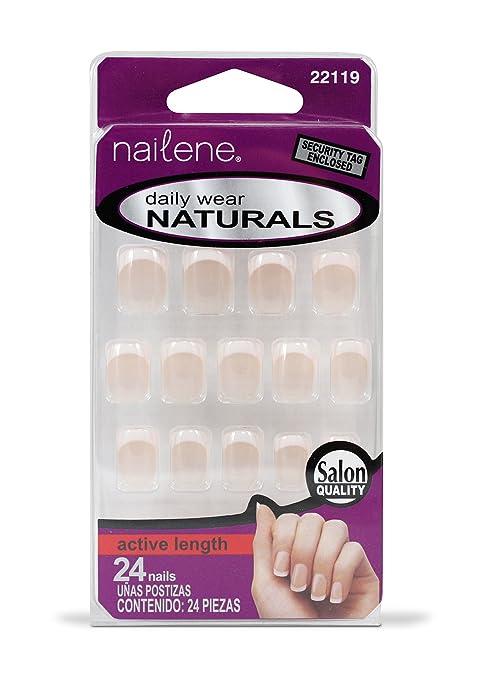 Uñas cortas con manicura francesa Nailene