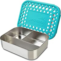 LunchBots Trio Stainless Steel Bento Food Container, 3 Section, for Lunch and Snacks