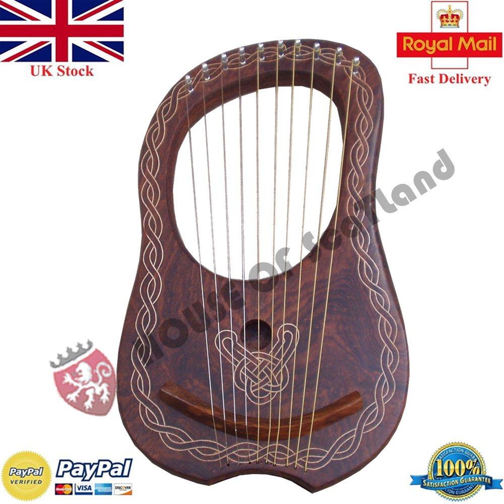 Cuerdas de Arpa de 10 de marcha Matel mejor de las calidades fabricada con madera de palisandro Euro Era