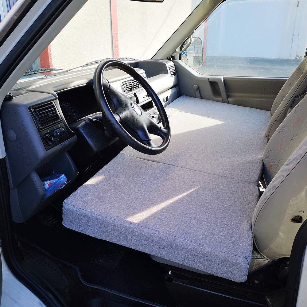 Transporter, Multivan, Caravelle, California Beach, Eurovan Klappmatratze f/ür Vordersitze Volkswagen T4 T5 und T6