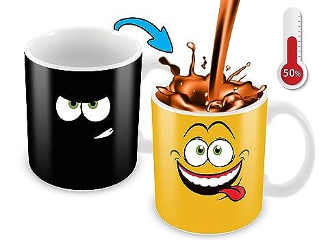 Amazon.com: Taza de café que cambia de color con el calor ...