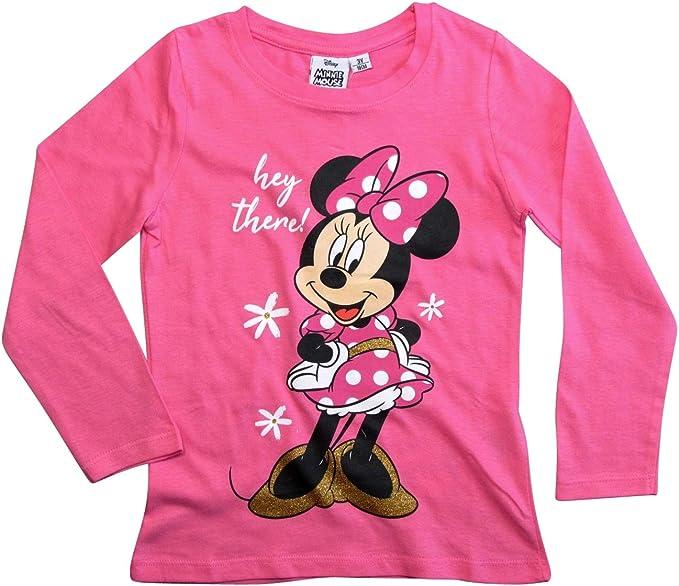 Minnie Mouse M/ädchen Langarmshirt Disney