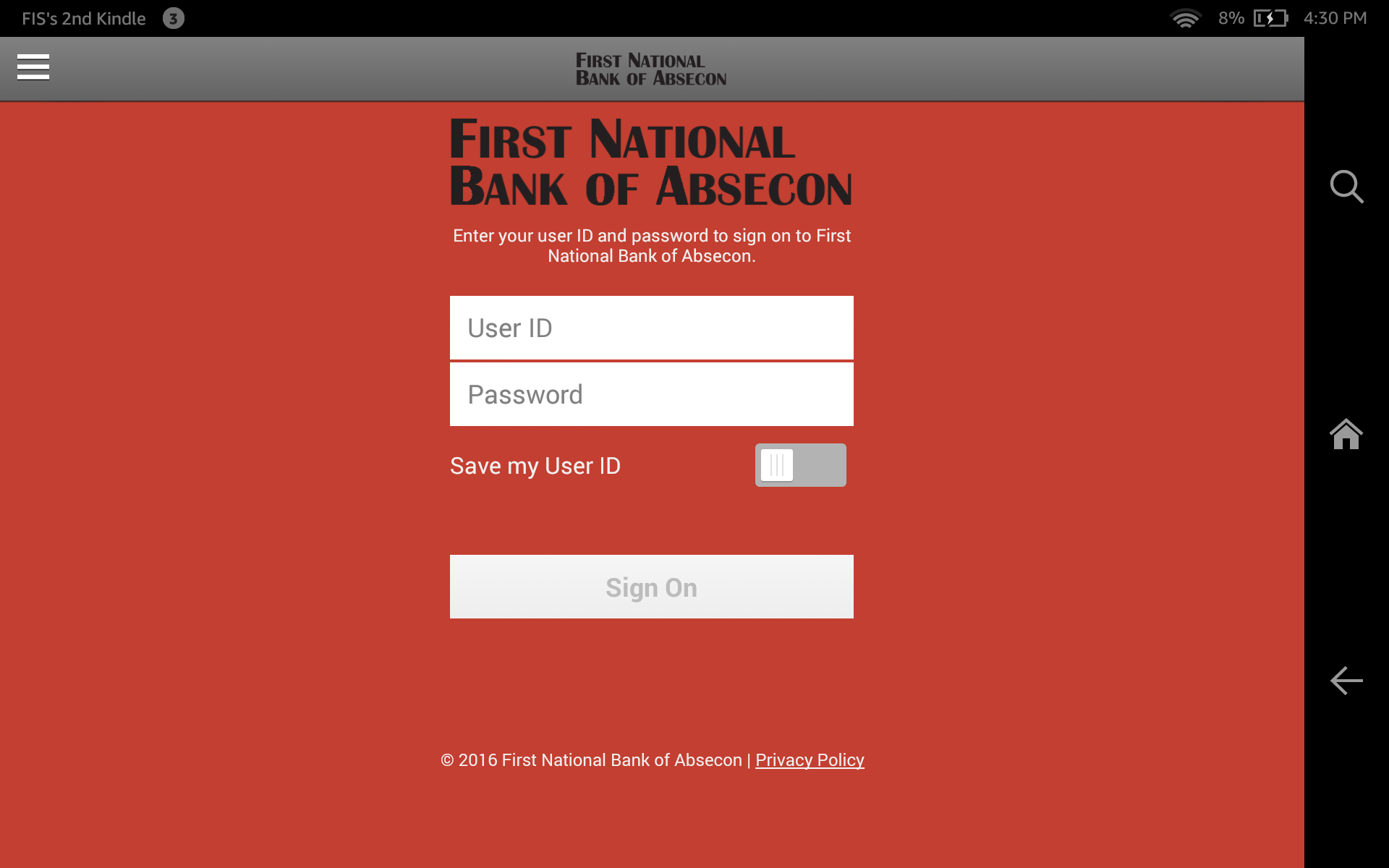 Amazon com: First National Bank of Absecon: Appstore for Android