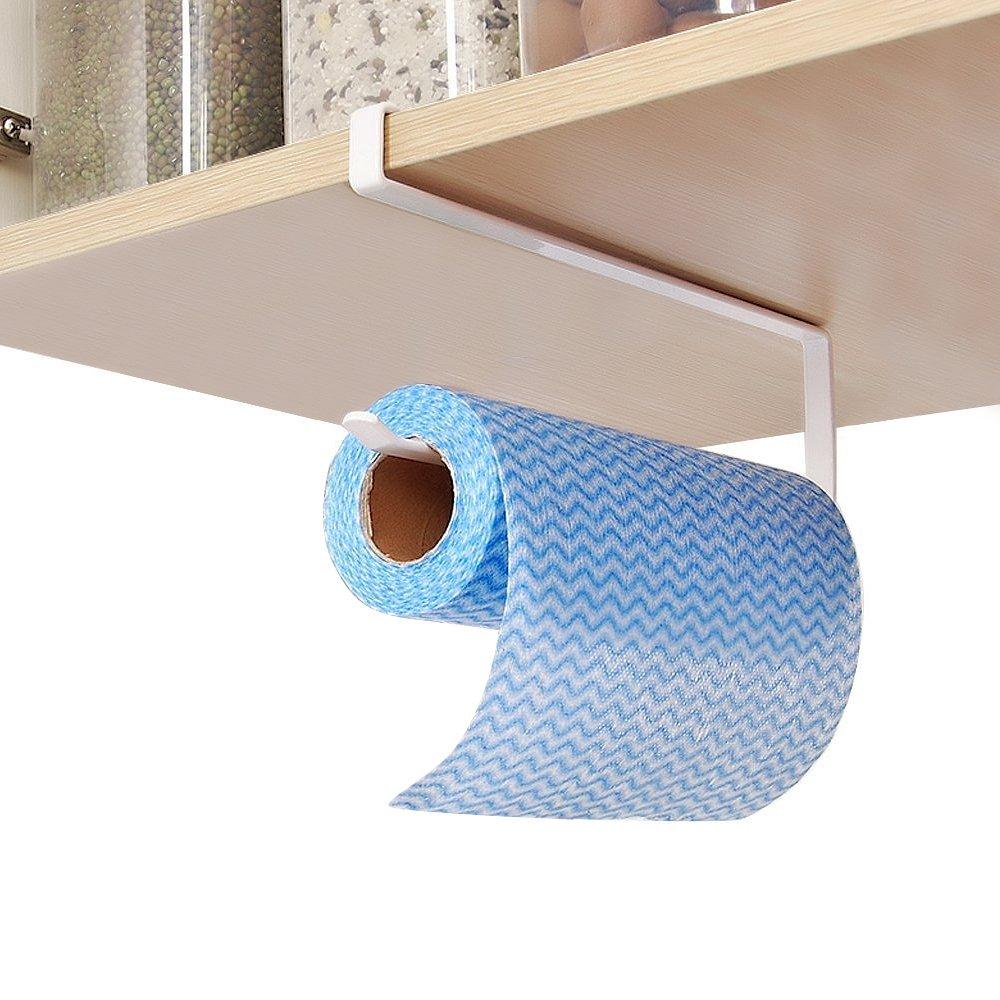 Portarrollos de cocina Hysagtek para armario bajo, estante de almacenamiento, portarrollos de papel higiénico...: Amazon.es: Hogar