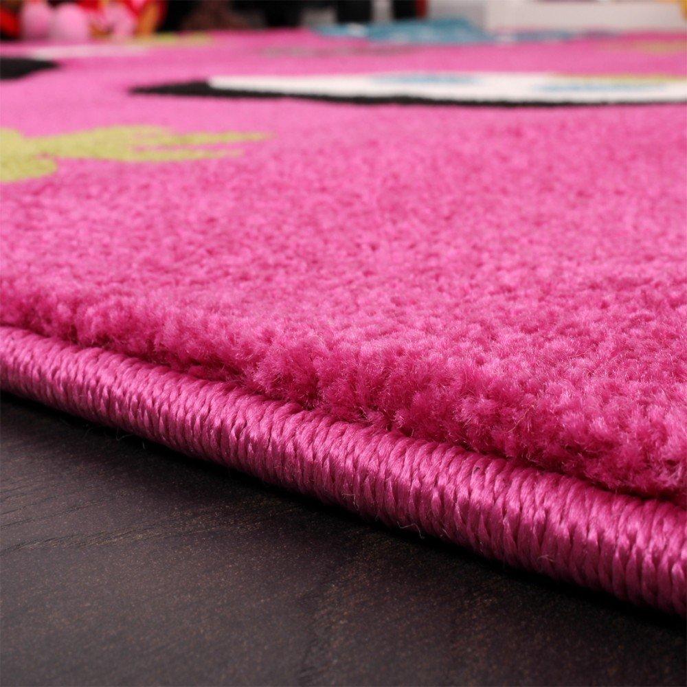 Kinderteppich schmetterling rosa  Amazon.de: Kinder Teppich Schmetterling Design Grün Grau Schwarz ...