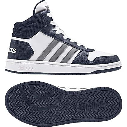 brand new 50b5c bf930 adidas Hoops Mid 2.0 K Chaussures de Fitness Mixte Enfant, Blanc  (FtwblaGritre