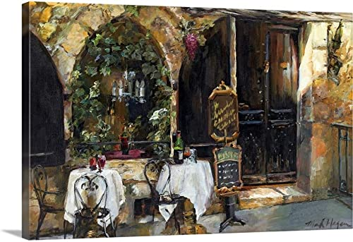 Meeting at The Cafe Canvas Wall Art Print